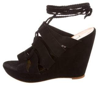 Cynthia Vincent Suede Wedge Sandals w/ Tags
