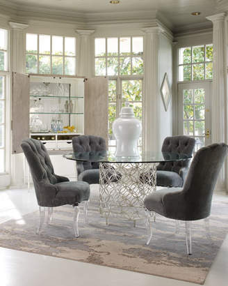 Caracole Harlow Glass-Top Dining Table