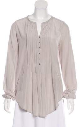Calypso Pleated Button-Up Top