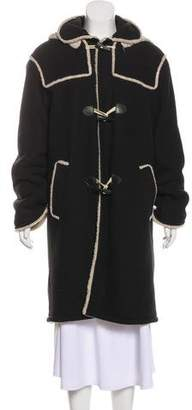 Anna Sui Hooded Fleece Coat