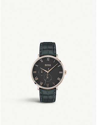 BOSS 1513619 William rose gold-plated watch