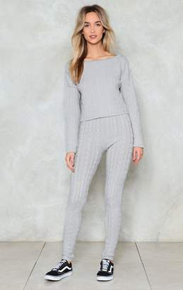 Nasty Gal Wind Down Lounge Sweater and Leggings Set