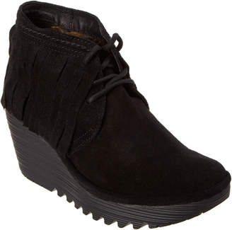Fly London Yank Fringe Wedge Bootie