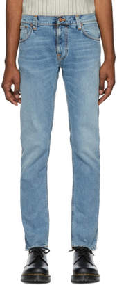 Nudie Jeans Blue Thin Finn Jeans