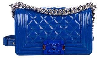 Chanel Patent Leather Small Boy Bag