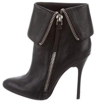 Jean-Michel Cazabat Leather Pointed-Toe Ankle Boots