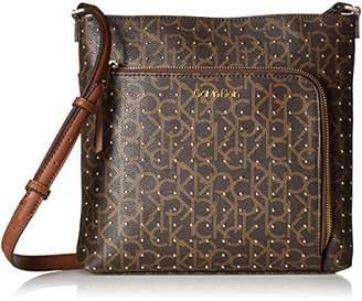 Calvin Klein Hudson Monogram Studded Top Zip North/South Crossbody