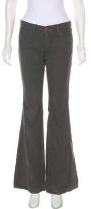 J Brand Corduroy Low-Rise Flared Pants