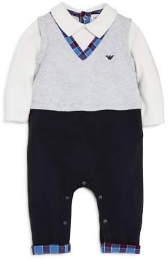 Armani Junior Boys' Sweater Vest Romper - Baby