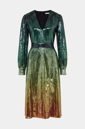 Mary Katrantzou Theresa Dress Ombre Green