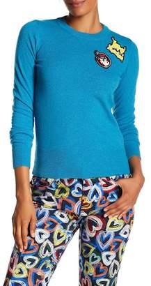 Love Moschino Maglia Girocolla Patch Sweater