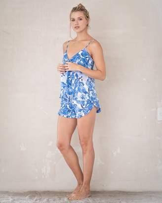 The Lazy Poet Rosie Linen Camisole Shorts Pajama Set