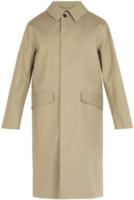 MACKINTOSH Rubberised bonded cotton overcoat