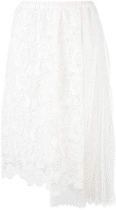 No.21 lace-embroidered skirt