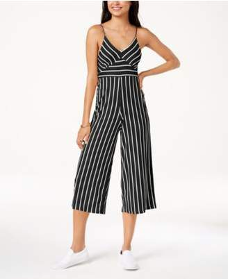 Polly & Esther Juniors' Striped Cropped Jumpsuit