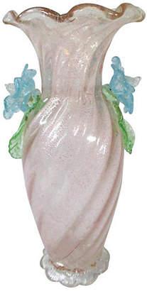 One Kings Lane Vintage Antique Venetian Pale Pink Vase