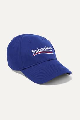 Balenciaga Embroidered Cotton-twill Baseball Cap - Blue 12d35e75cec2