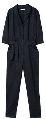 MANGO Long chest-pocket jumpsuit