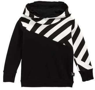 Nununu Part Stripe Pullover Hoodie
