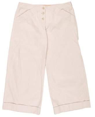 Stella McCartney Low-Rise Flared Pants Khaki Low-Rise Flared Pants
