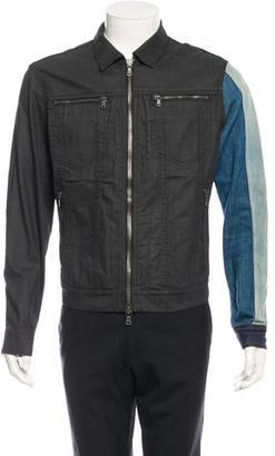John Varvatos Long Sleeve Denim Jacket $195 thestylecure.com