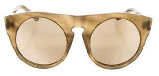 Alexander Wang x Linda Farrow Round Refelctive Sunglasses