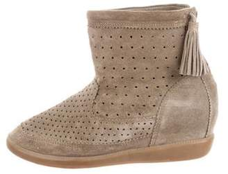 Isabel Marant Basley Suede Wedge Booties