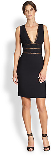 Cynthia Rowley Sleeveless Illusion-Cutout Dress