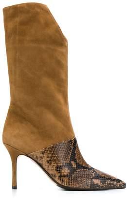 The Seller snakeskin-effect panel boots