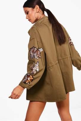 boohoo Premium Military Festival Jacket