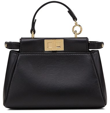 Fendi 'Micro Peekaboo' Nappa Leather Bag - Black