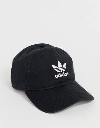 adidas logo cap in black