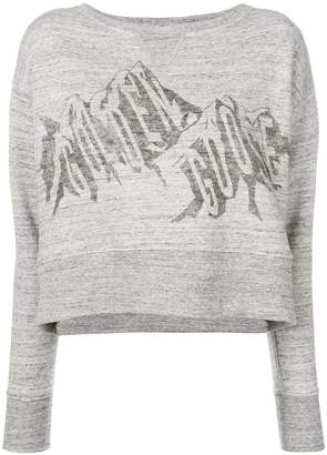 Golden Goose cropped graphic print sweatshirt