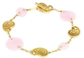 Carrera y 18K Pink Opal Paisley Bracelet
