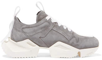 Unravel Project Suede Sneakers - Gray