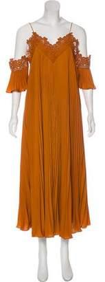 Self-Portrait Lace Flared Dress