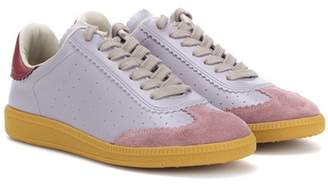 Isabel Marant Bryce leather and suede sneakers