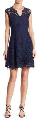Shoshanna Buchanan Cotton Lace Fit-&-Flare Dress