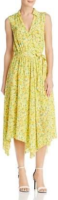 Moschino Lemon-Print Silk Wrap Dress