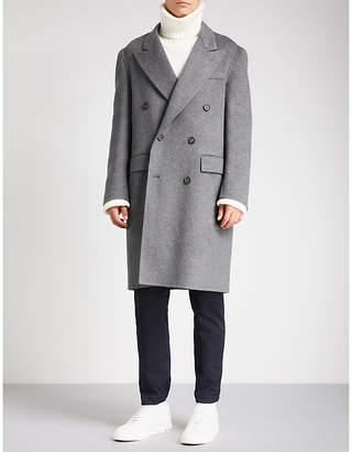 Brioni Double-breasted wool coat