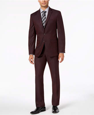 Van Heusen Flex Men's Slim-Fit Stretch Burgundy Solid Suit