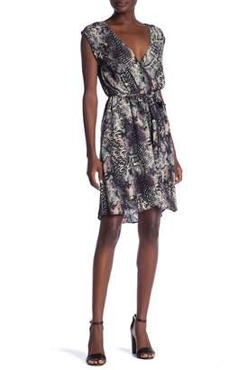 Love Stitch Printed Waist Tie Dress