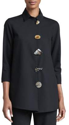 Caroline Rose Stretch-Gabardine Travel Jacket