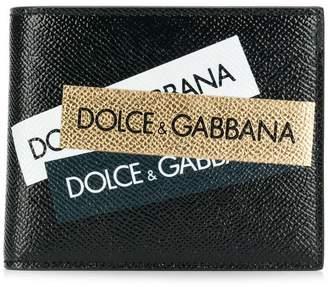 Dolce & Gabbana printed logo wallet
