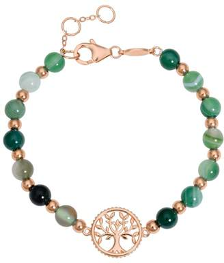 John Greed Tempest Wald Green Agate Tree of Life Bracelet