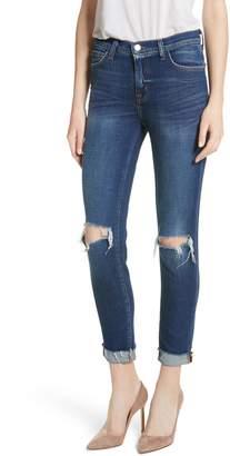 L'Agence Rachel Ripped Crop Slim Fit Jeans