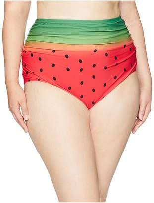 Unique Vintage Plus Size Georgiana Ruched Bottom Women's Swimwear