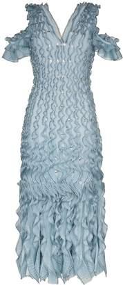 Alexander McQueen ruffled V-neck midi dress