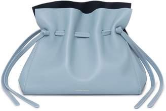 Mansur Gavriel Lamb Mini Protea Bag - Grey Blue/Blu