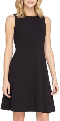 Women's Tahari Seamed Knit Fit & Flare Dress $128 thestylecure.com